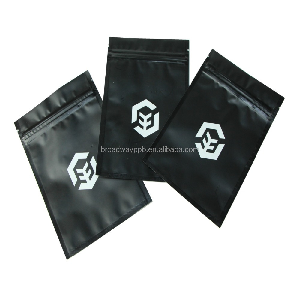 nice printing 1g 2g 3g 4g 5g gram size smell proof matt zipper top foil mini baggie