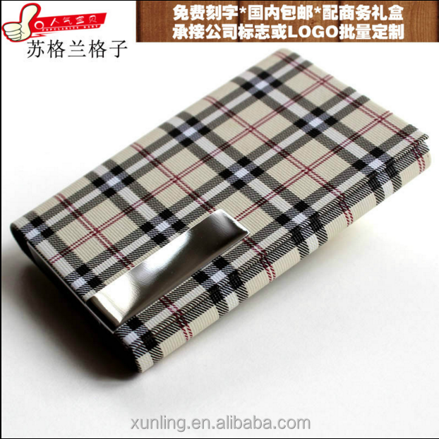 PU clothes cover gift name card holder case