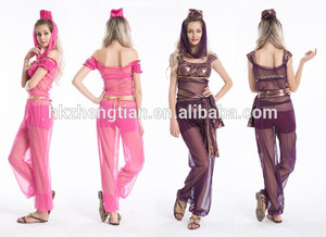 Ladies Genie costumes india costume retro costume latex catsuit