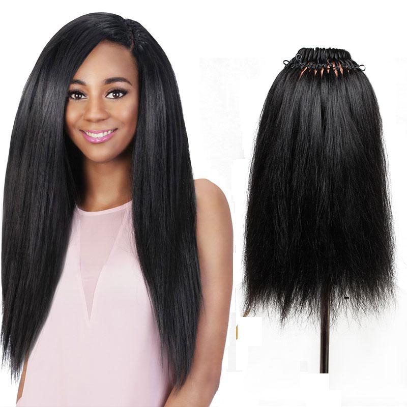Pre Loop Yaki Straight Hair Crochet Braids Hairstyles 100g Pack