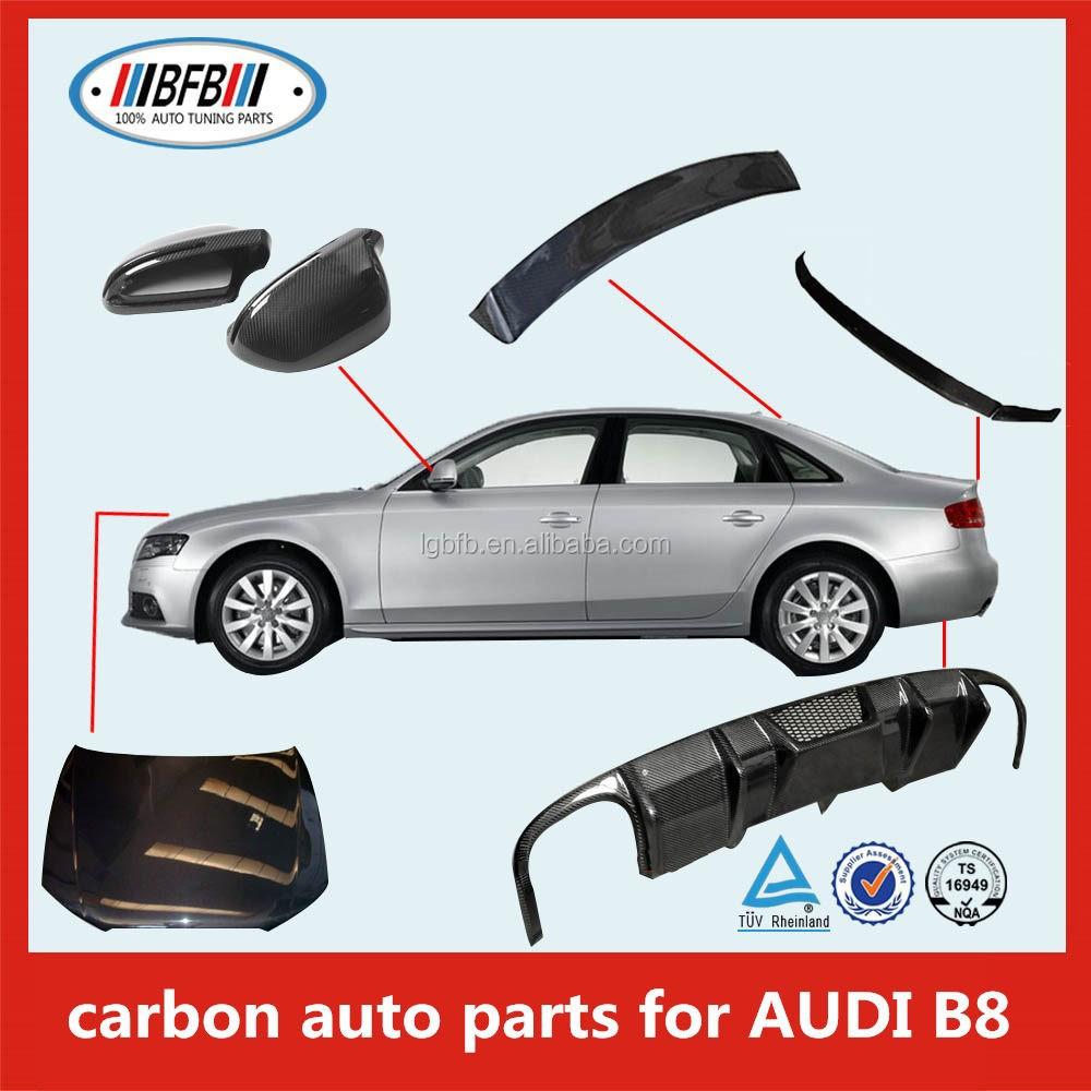 Carbon Fiber Car Accessories For Audi A4 B8 Rear Spoiler - Buy Car