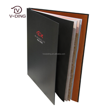 vding from China suppliers best selling products in restaurants and hotels use quality leather custom LOGO sample menu card