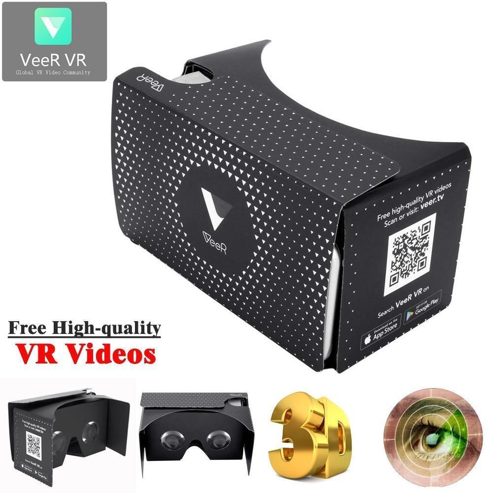 "Sun YOBA VeeR DIY 3D Cardboard Virtual Reality Box VR App for 3.5 -5.5"" Samsung Phones"