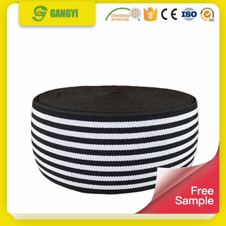 Oeko-Tex woven elastic strip webbing waist belt factory supplier