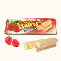 Wholesale Coconut Lemon cream Strawberry Sandwich Wafer Biscuits manufacturer