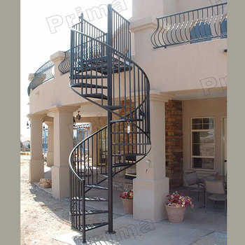 Prefabricated Wrought Iron Spiral Staircase Railing Kits