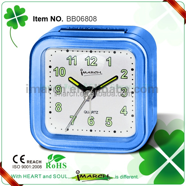 BB06808 pecial Price Colouring ABS material table beep alarm clock