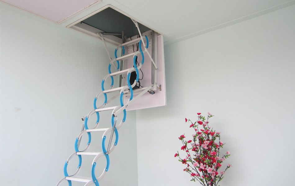Retractable Metal Telescopic Loft Ladder Folding,folding Attic Stairs