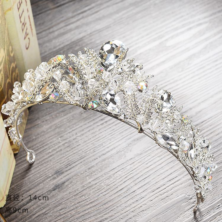 Korean new bride wedding dress wedding ornaments high-grade crystal <strong>crown</strong> wedding accessories Baroque <strong>crown</strong>