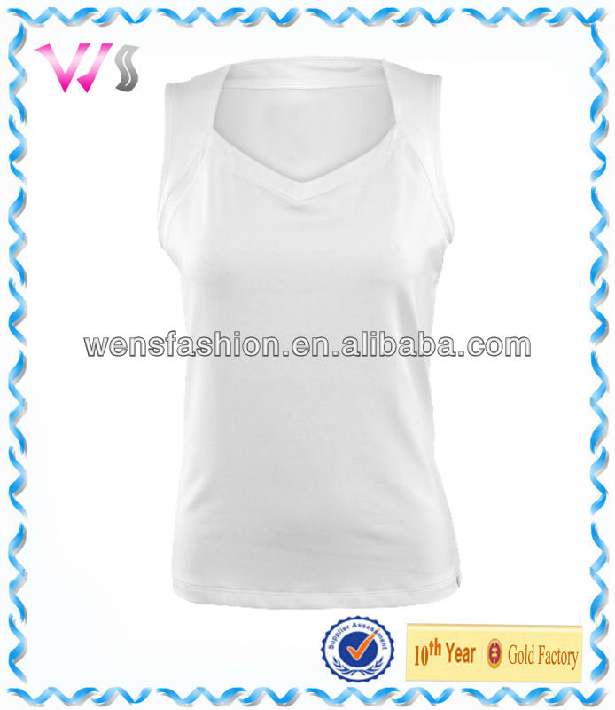 Women's Blank White Tennis Top