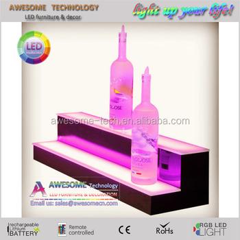 Modern Bar Equipment Illuminated Bar Shelves For Bottles - Buy 3 Tier  Liquor Bottle Shelf,Acrylic Bar Shelves For Bottles,Modern Display Shelf  Product