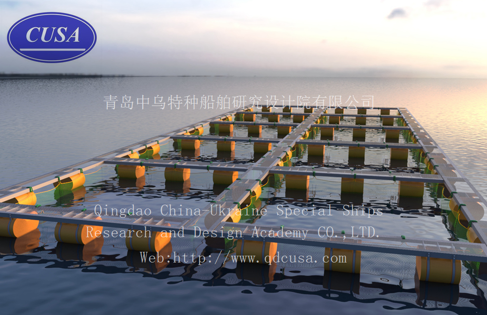 Steel Floating Fish Framing Cage Qingdao