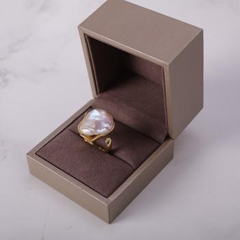 d4a125e46b2a El último diseño de agua dulce Perla Barroca anillos elegante barroco forma  antiguo anillo de perlas