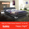 Latest design furniture bed with lighted headboard (2876B)