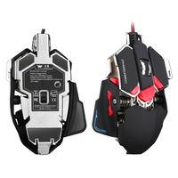 Wired Gaming Mouse 4800 Adjustable DPI Optical 10 Buttons 4 Colors Backlight Professional Mechanical for Computer Laptop CW80