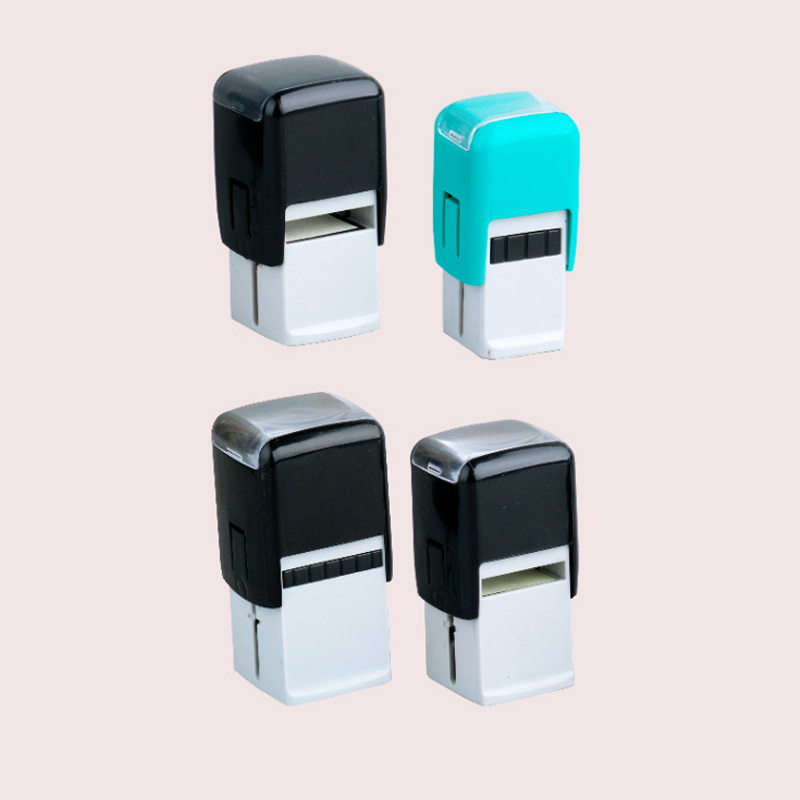 custom popular rubber self inking stamp/custom portable self inking stamp