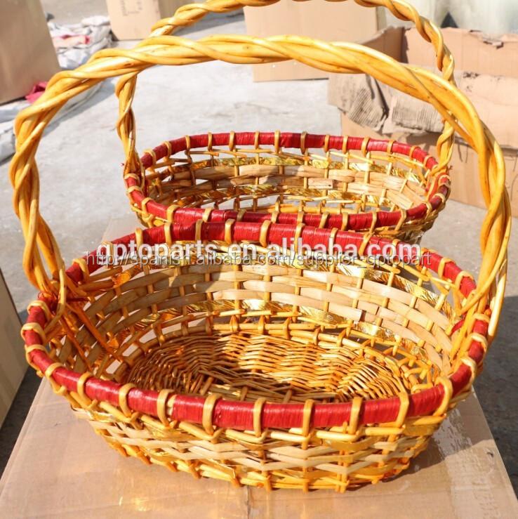 100 mano hacer la cesta de mimbre de la promocin en tailandia y entrega pronto - Como Hacer Cestas De Mimbre