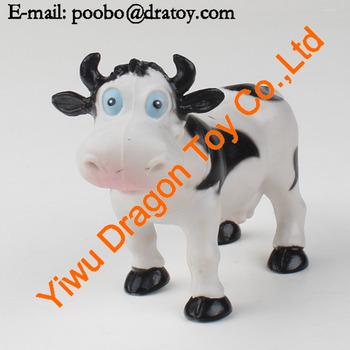 Pvc Dibujos Animados Vaca Divertida Juguetelindo Vacas De Dibujos