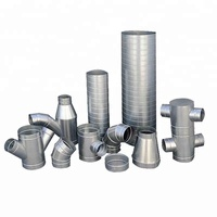 Galvanized steel air conditioner duct ventilation fittings spiral duct