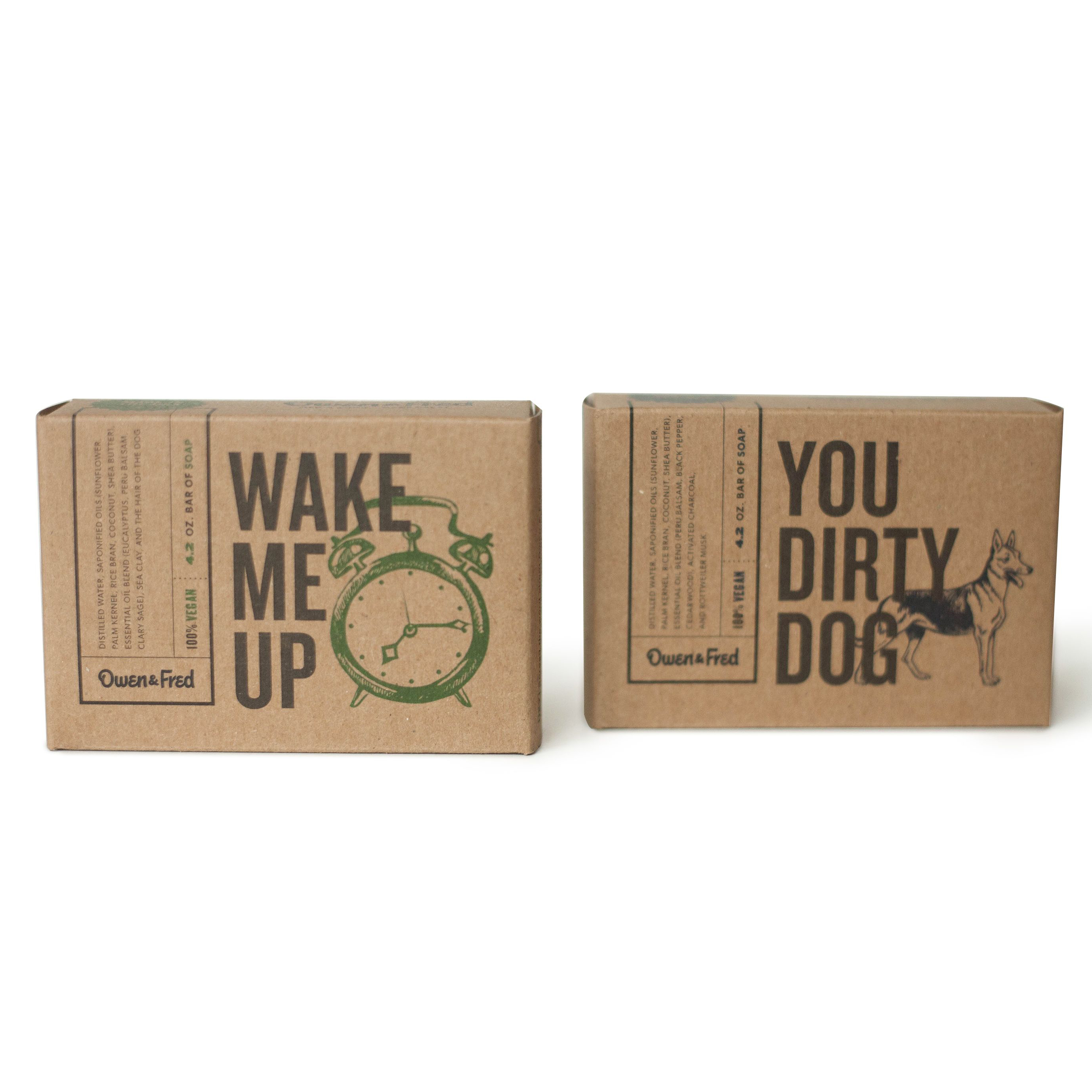 Custom made nature kraft paper printed you logo soap paper box
