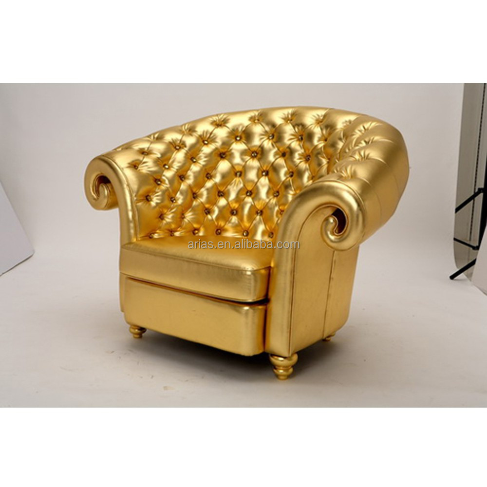 High Quality 5411 Gold Leather Sofa Buy Gold Leather Sofa