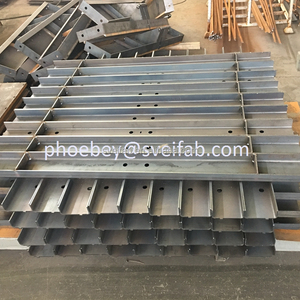 Construction steel formwork for concrete walls fabrication