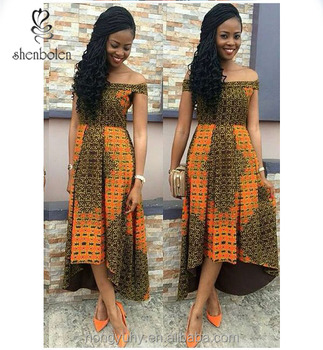 5beded5dac7d 2016 afrian sexy printed dresses with off shoulder african fashion designs  dress wax print fabric african