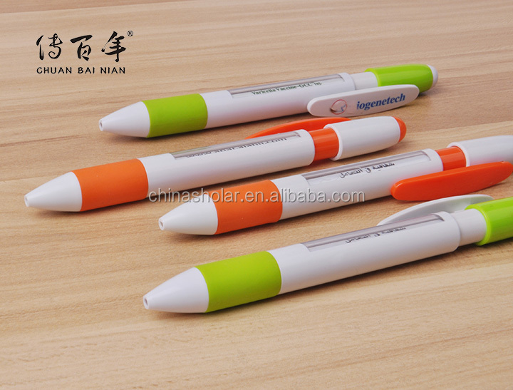 Hot sales advertising plastic window message changing rotating ball pen