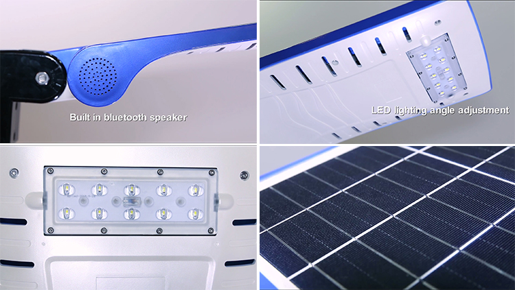 bluetooth solar street light