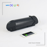 New Technology rechargable battery 18650 li ion 24v 10ah bottle battery for electric bicycle with usb charger and bms
