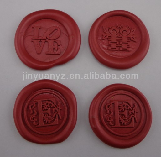 Hot selling New Style wax seal Stickers with string /Custom Design Wax Seal Stickers wine bottle seal