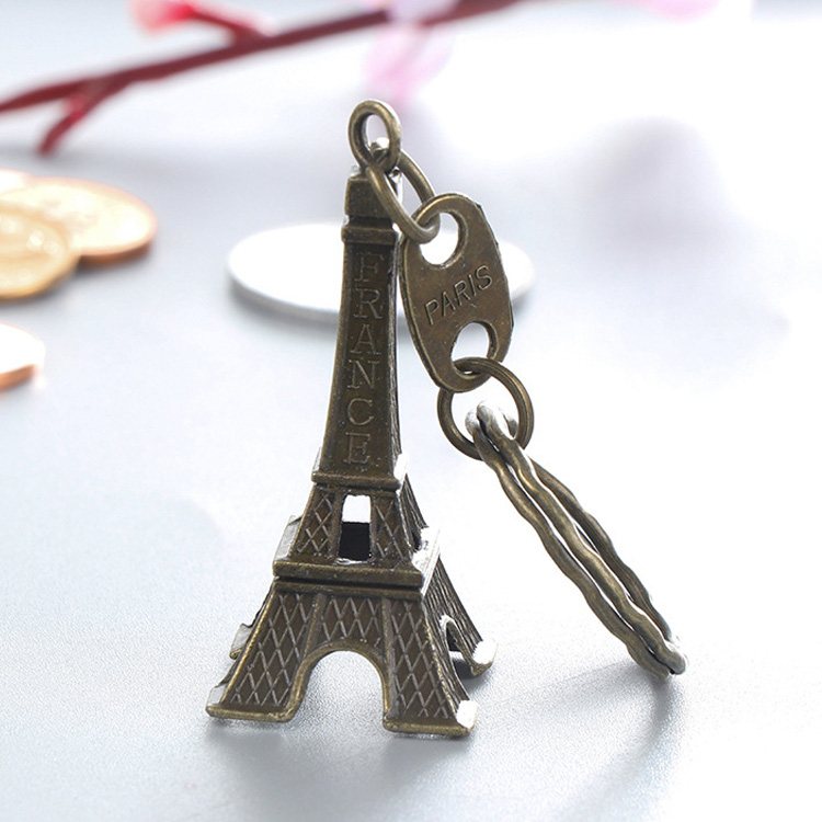 Fashion Paris Retro Eiffel Tower Model <strong>Cute</strong> Keychain Keyring Lovely <strong>Gift</strong>