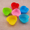100% food grade heart shape mini silicone cake mold silicone cupcake muffin cups for wholesale