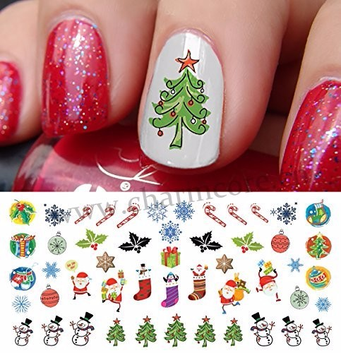 2016 Christmas Halloween Holiday nail patch decals water transfer nail art stickers for sticker decal for nail beauty