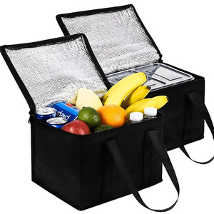 wholesale Waterproof Reusable Thermal Insulated Grocery Cool Carry Cooler Lunch Bag For Frozen Food