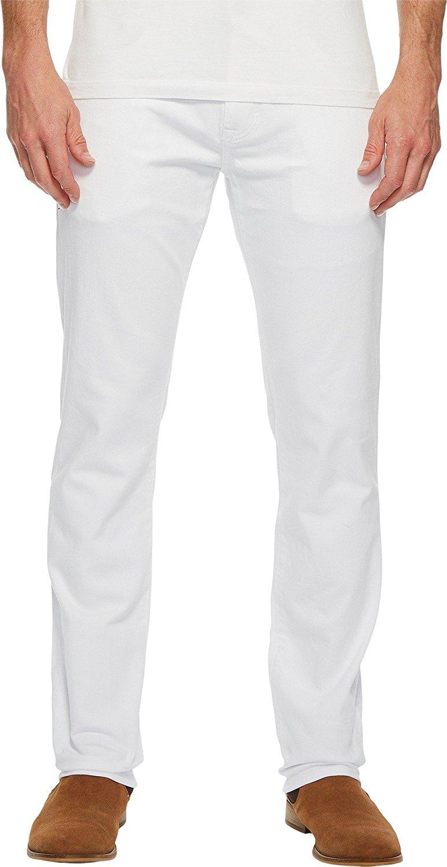 7b971506 Get Quotations · Mavi Jeans Mens Marcus Regular Rise Slim Straight Leg in  White Williamsburg