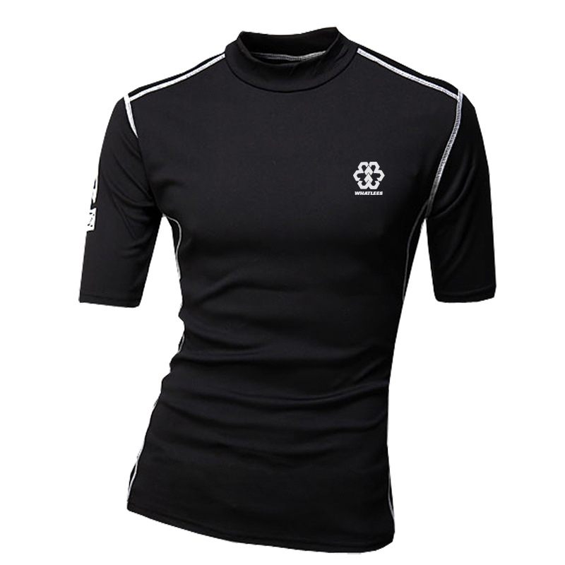 Buy New T Shirt Men 2015 Fashion Design Short Sleeve Mens Fitness Running Biker Sport T Shirt Homme Brand Stylish Compress Shirt Xxl In Cheap Price On M Alibaba Com