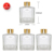 180ml square reed diffuser gold cover glass bottle