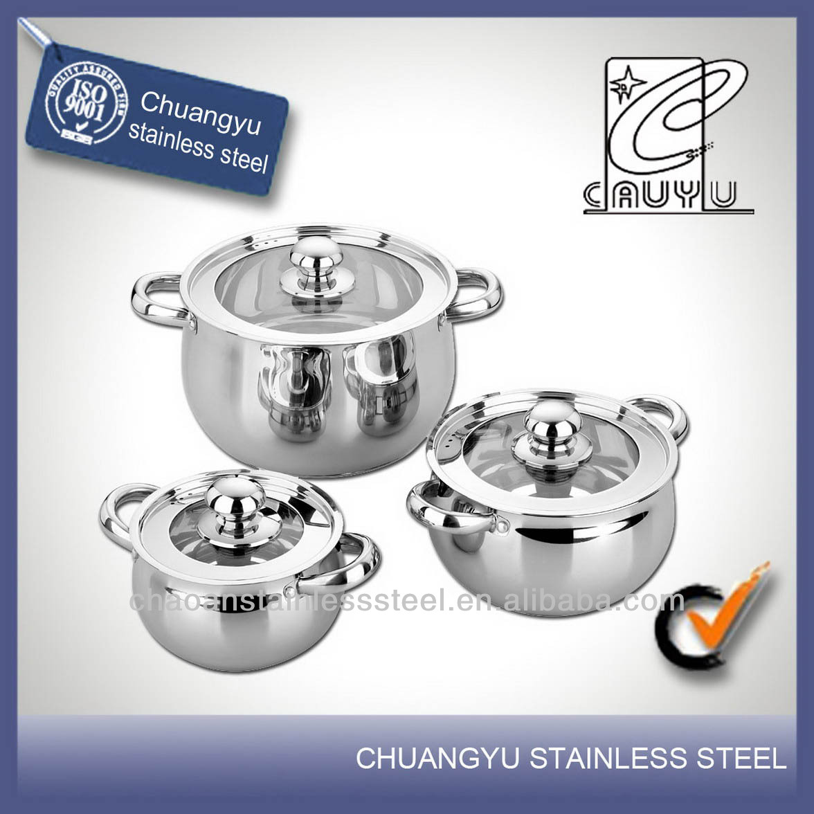 stainless steel induction professional cookware