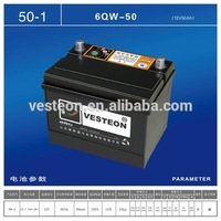 Car and auto Sealed Wet Battery 12V 50AH