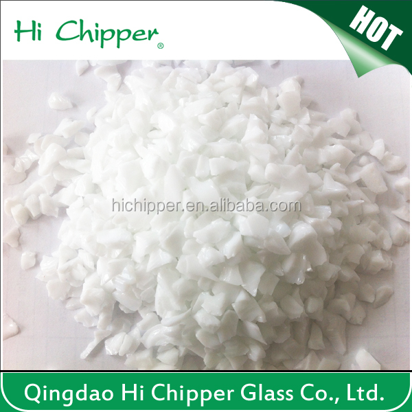 White terrazzo artificial stone and garden decoration opaque glass chips