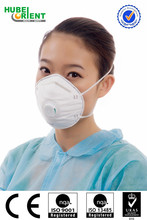 Disposable medical breathing mask with one-way valve