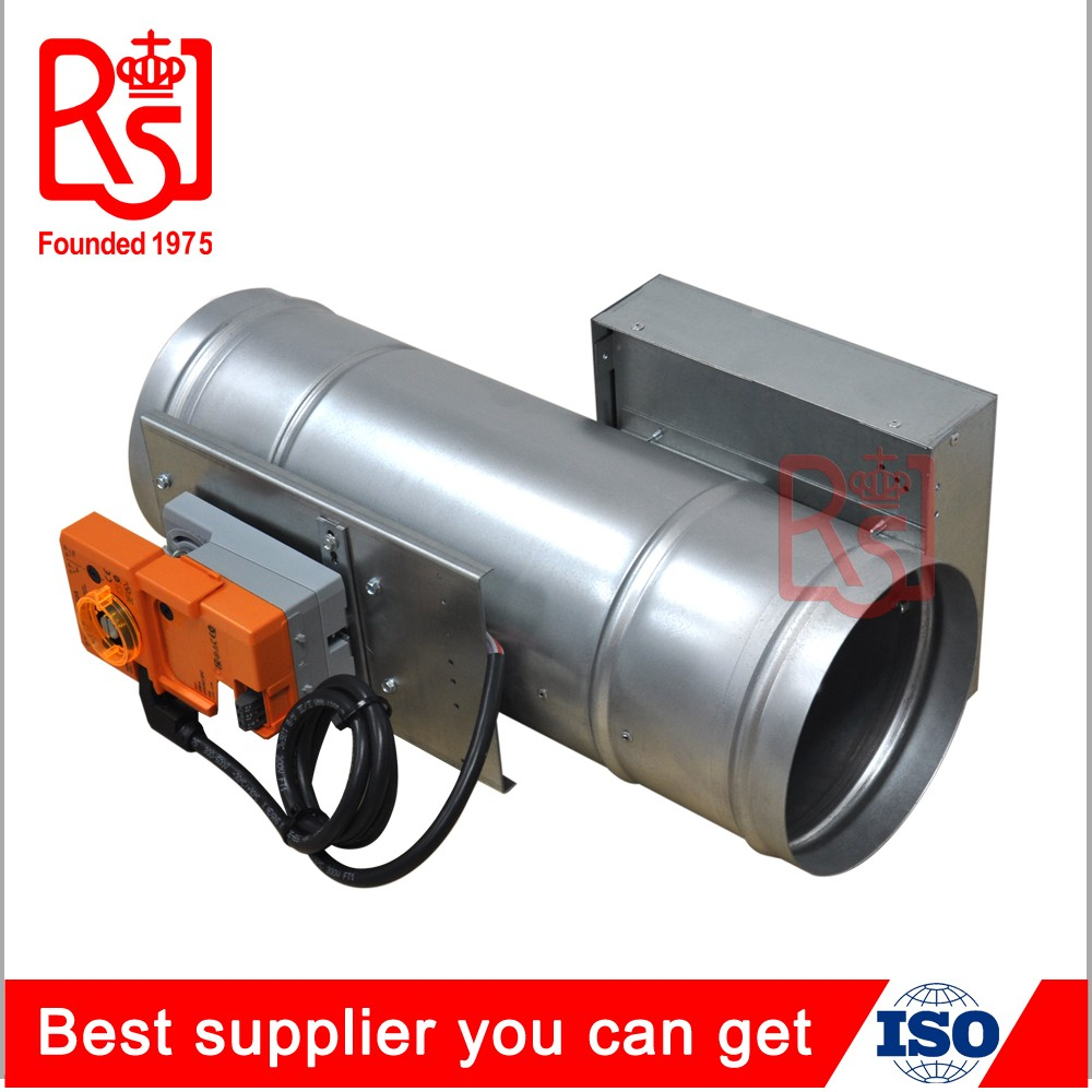 Round CAVC terminals air volume control motorized electric duct damper