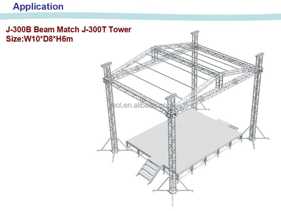 Event Stage Truss System Aluminum Truss Stage Small Stage