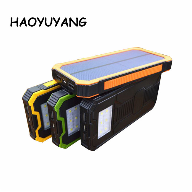 High Energy Mobile Power Supply 20000mah Waterproof Solar Power Bank Charger For Mobile Phones
