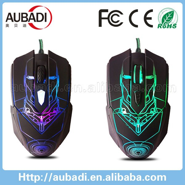 Good Grip 3000DPI game mouse with Changeable colorful breath lamp Gaming Mouse