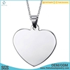 Wholesale silver stainless steel blanks pendants jewelry