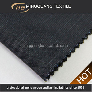 Supplier in China 2015 new design polyester viscose tr shiny woven suit indian madras fabric