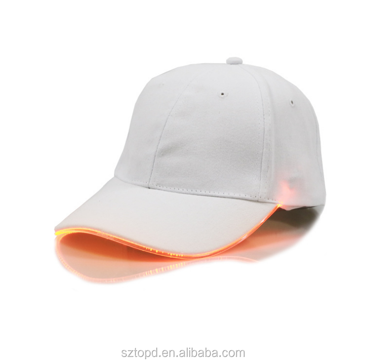 2017 New LED Light Baseball Cap for Women Mens Fitted Hats Glow In The Dark 20964c36ef