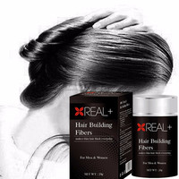 100% natural hair loss solution--REAL PLUS hair building fiber bottle